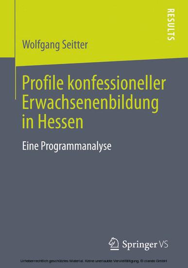 Profile konfessioneller Erwachsenenbildung in Hessen - Blick ins Buch