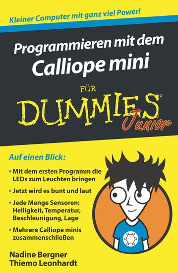 Programmieren mit dem Calliope mini für Dummies Junior - Blick ins Buch