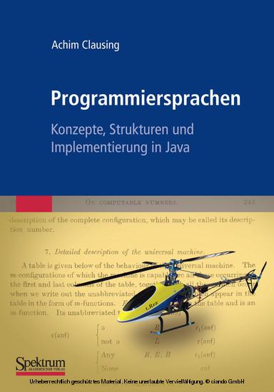 Programmiersprachen – Konzepte, Strukturen und Implementierung in Java - Blick ins Buch