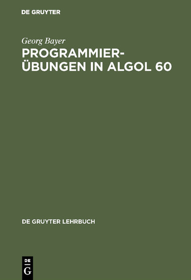 Programmierübungen in ALGOL 60 - Blick ins Buch
