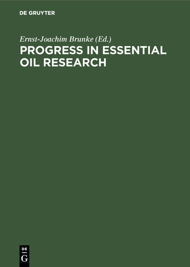 Progress in Essential Oil Research - Blick ins Buch