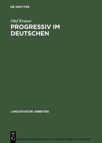 Progressiv im Deutschen - Blick ins Buch