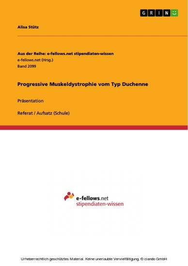 Progressive Muskeldystrophie vom Typ Duchenne - Blick ins Buch