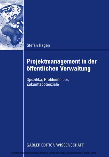 Projektmanagement in der öffentlichen Verwaltung - Blick ins Buch