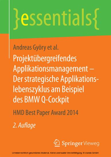 Projektübergreifendes Applikationsmanagement - Der strategische Applikationslebenszyklus am Beispiel des BMW Q-Cockpit - Blick ins Buch