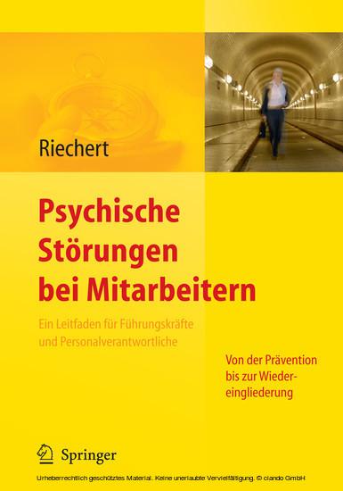 Psychische Störungen bei Mitarbeitern - Blick ins Buch