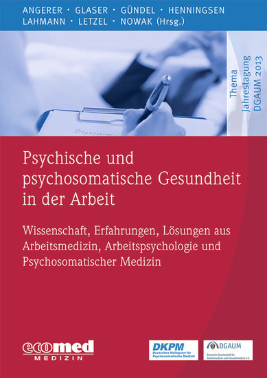 Psychische und psychosomatische Gesundheit in der Arbeit - Blick ins Buch