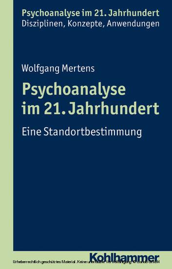 Psychoanalyse im 21. Jahrhundert - Blick ins Buch