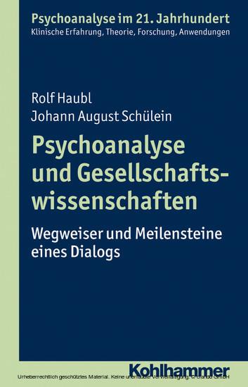 Psychoanalyse und Gesellschaftswissenschaften - Blick ins Buch