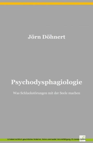 Psychodysphagiologie - Blick ins Buch