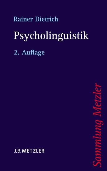 Psycholinguistik - Blick ins Buch