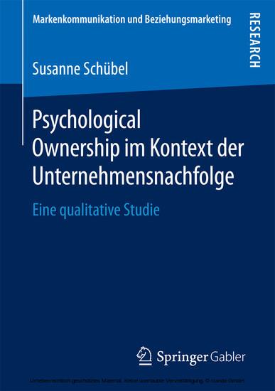 Psychological Ownership im Kontext der Unternehmensnachfolge - Blick ins Buch