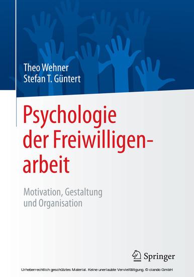 Psychologie der Freiwilligenarbeit - Blick ins Buch