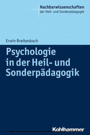 Psychologie in der Heil- und Sonderpädagogik - Blick ins Buch