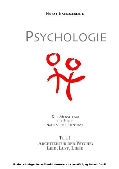 PSYCHOLOGIE - Der Mensch auf der Suche nach seiner Identität. - Blick ins Buch