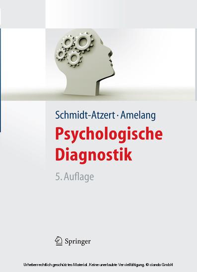 Psychologische Diagnostik (Lehrbuch mit Online-Materialien) - Blick ins Buch