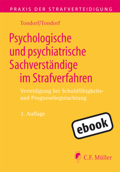 Psychologische und psychiatrische Sachverständige im Strafverfahren - Blick ins Buch