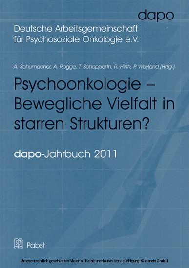 Psychoonkologie - Bewegliche Vielfalt in starren Strukturen? - Blick ins Buch