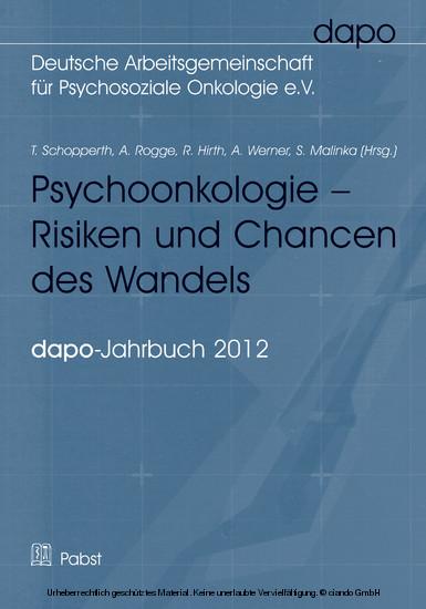 Psychoonkologie – Risiken und Chancen des Wandels - Blick ins Buch