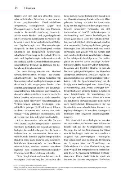 Psychotherapie und Neurowissenschaften - Blick ins Buch