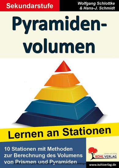Pyramidenvolumen - Blick ins Buch