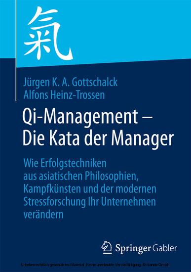 Qi-Management - Die Kata der Manager - Blick ins Buch
