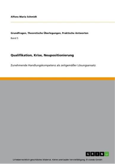 Qualifikation, Krise, Neupositionierung - Blick ins Buch