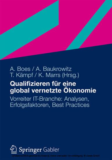 Qualifizieren für eine global vernetzte Ökonomie - Blick ins Buch