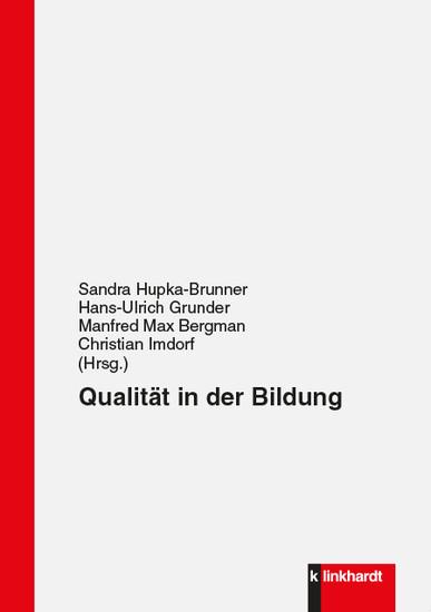 Qualität in der Bildung - Blick ins Buch