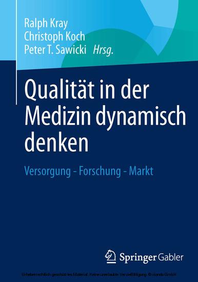 Qualität in der Medizin dynamisch denken - Blick ins Buch