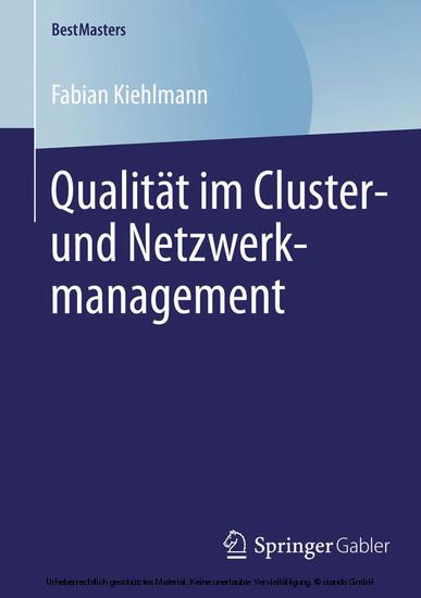 Qualität im Cluster- und Netzwerkmanagement - Blick ins Buch