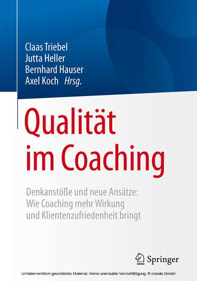 Qualität im Coaching - Blick ins Buch