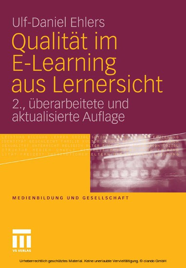 Qualität im E-Learning aus Lernersicht - Blick ins Buch