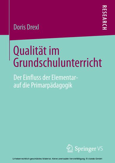 Qualität im Grundschulunterricht - Blick ins Buch