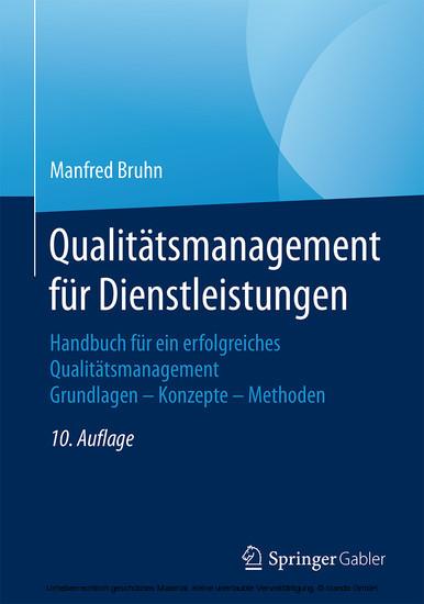 Qualitätsmanagement für Dienstleistungen - Blick ins Buch