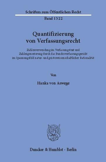 Quantifizierung von Verfassungsrecht. - Blick ins Buch