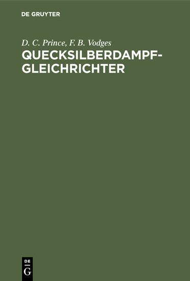 Quecksilberdampf-Gleichrichter - Blick ins Buch