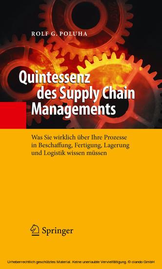 Quintessenz des Supply Chain Managements - Blick ins Buch