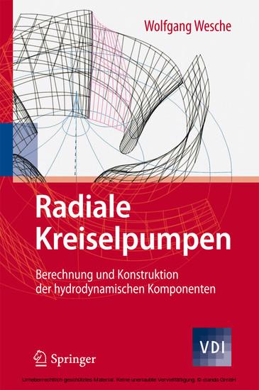 Radiale Kreiselpumpen - Blick ins Buch