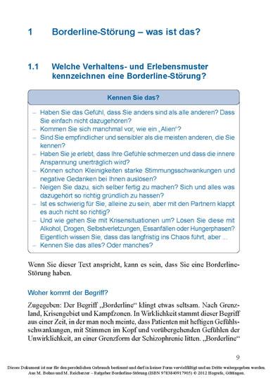 Ratgeber Borderline-Störung - Informationen für Betroffene und ...