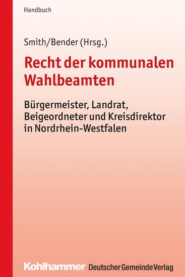 Recht der kommunalen Wahlbeamten - Blick ins Buch