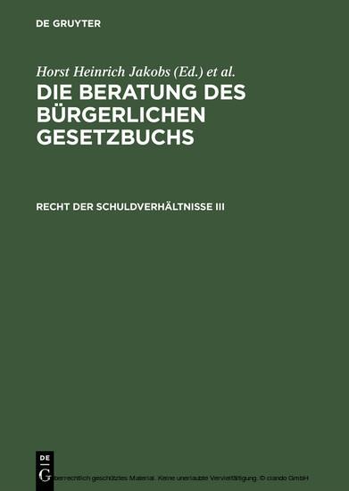 Recht der Schuldverhältnisse III - Blick ins Buch
