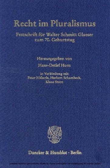 Recht im Pluralismus. - Blick ins Buch