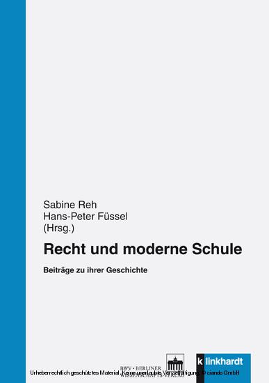 Recht und moderne Schule - Blick ins Buch