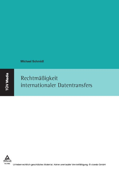 Rechtmäßigkeit internationaler Datentransfers - Blick ins Buch