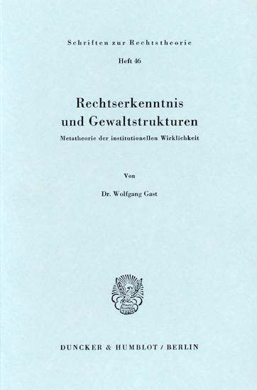 Rechtserkenntnis und Gewaltstrukturen. - Blick ins Buch
