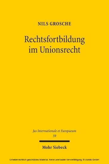 Rechtsfortbildung im Unionsrecht - Blick ins Buch