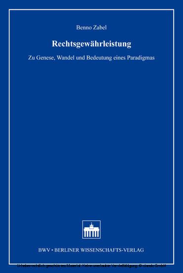 Rechtsgewährleistung - Blick ins Buch