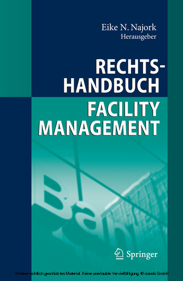 Rechtshandbuch Facility Management - Blick ins Buch