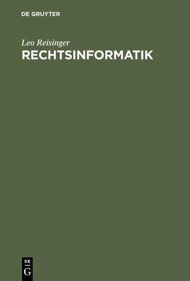 Rechtsinformatik - Blick ins Buch